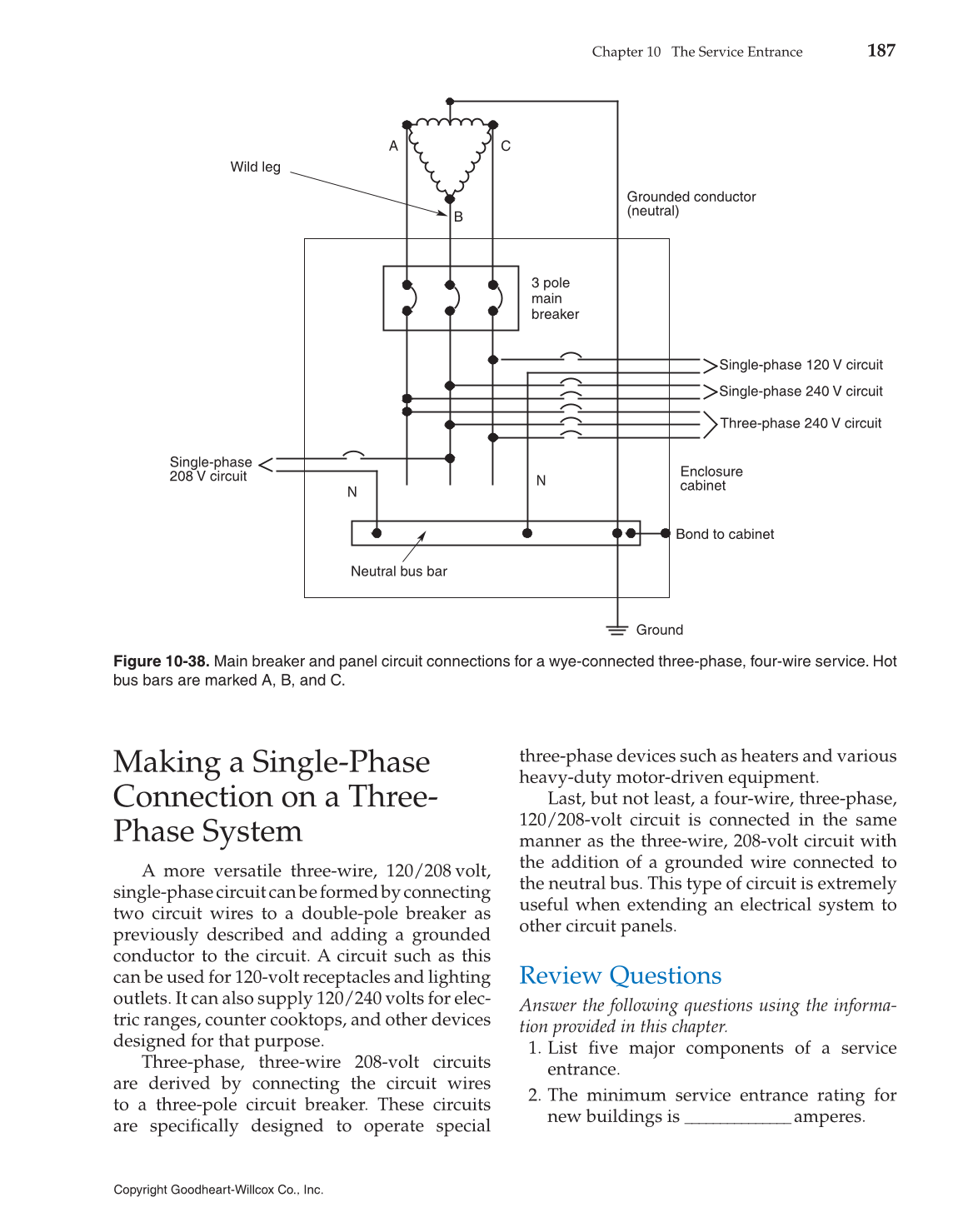 Single Phase 240 Volt Residential Wiring Diagram