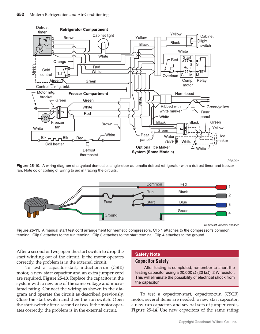 frigidaire a c package units wiring diagrams for electric heat on modern refrigeration and air conditioning  20th edition page 652  modern refrigeration and air