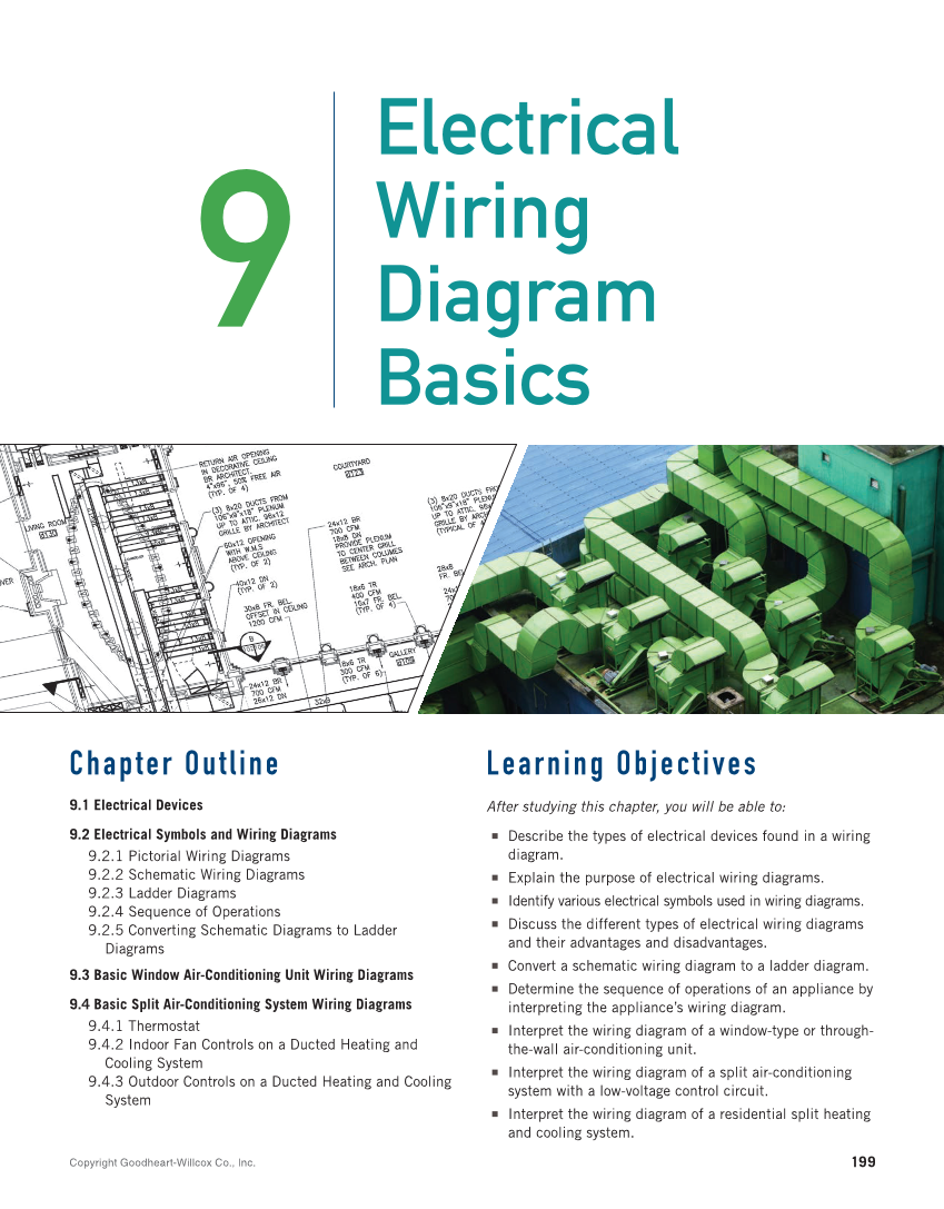 ladder wire diagram print reading for hvacr  1st edition page 199  217 of 368  jacob's ladder wiring diagram print reading for hvacr  1st edition