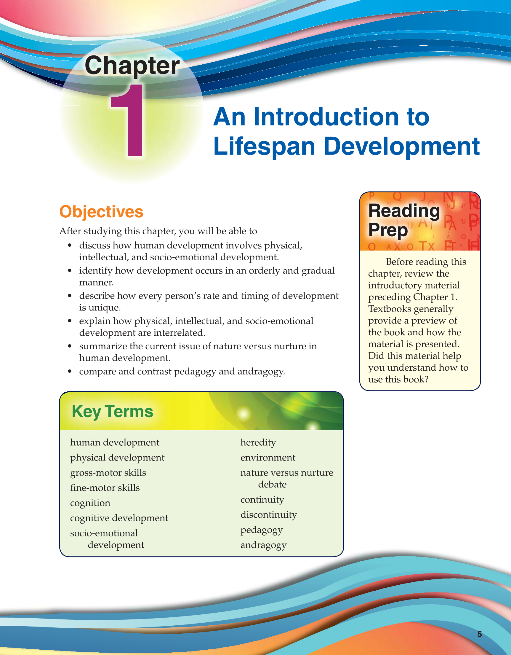 an introduction to the physical development of a human being Human development late adulthood and end there are various developmental stages in the life of a human being during the process of human development.