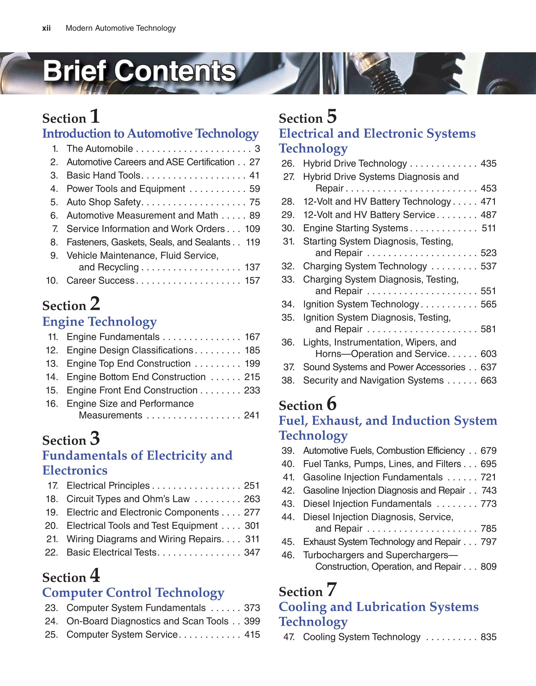 Printable Modern Automotive Technology 9th Edition Page Xii Injector And Computer Wiring Diagram Automotivecircuit Circuit