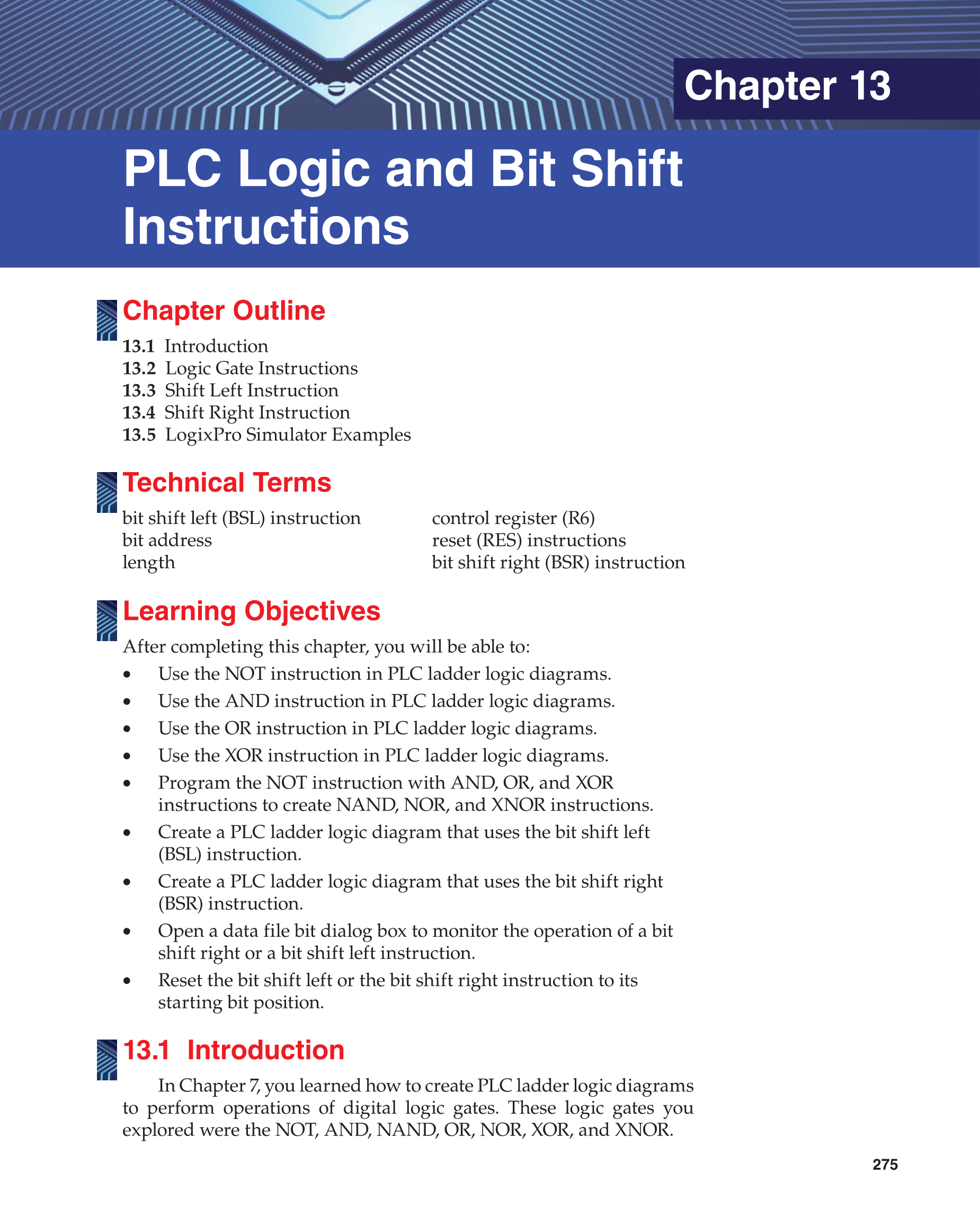 Printable: Programmable Logic Controllers, 3rd Edition page 275.